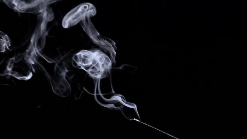 Real Smoke. Aromatic Smell From The Incense Stick. Incense smoke. | Shutterstock HD Video #1016697130