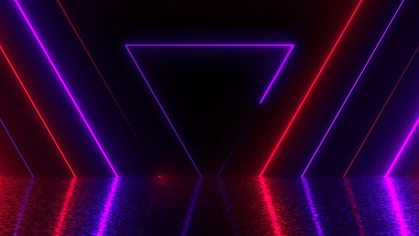 Abstract Triangles Neon Tunnel With Video De Stock Totalmente Libre De Regalías 1016754220 Shutterstock