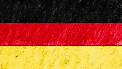 stop motion pastel chalk crayon drawn GERMANY flag cartoon animation seamless loop background new quality national patriotic colorful symbol video footage