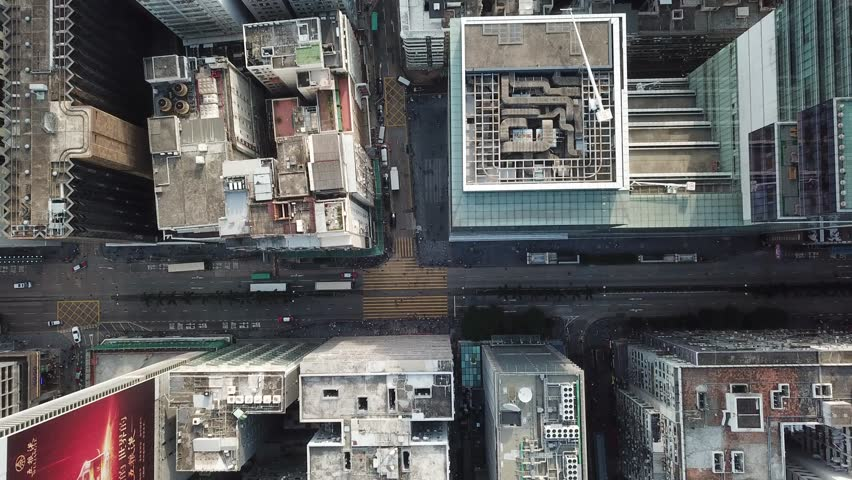 Hong Kong Kowloon aerial footage  | Shutterstock HD Video #1016882680