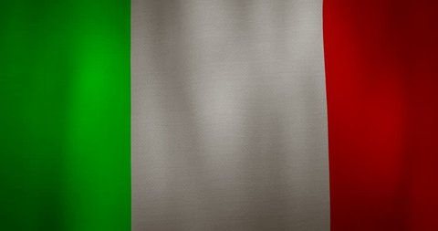 animation - modern Italy flag fabric texture waving in the wind. 4K motion flag footage video