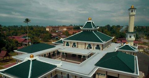 Melaka, Malaysia - New mosque named 'Masjid Jamek Ar-Rahman' located in historic city of Melaka.