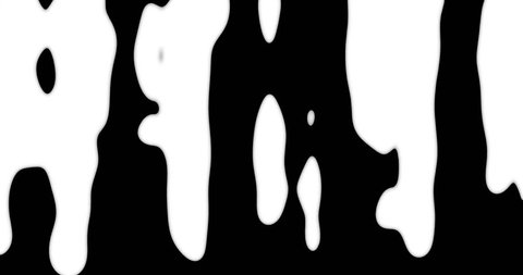 animation - white Ink transition pattern background. 4k video