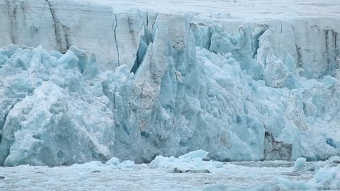 Calving a glacier