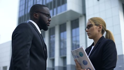 Boss blaming female employee in startup failure, gender discrimination at work