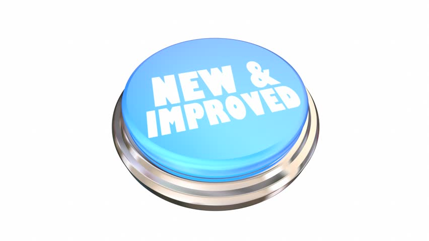 New and Improved Better Improvement Product Button 3d Animation | Shutterstock HD Video #1017106570