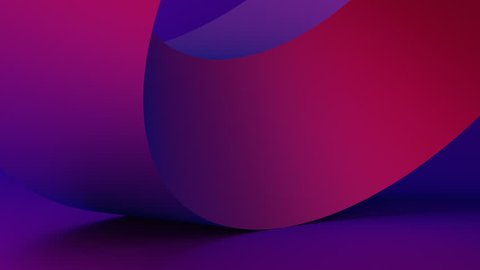 Abstract 3d rendering of rotating geometric shape. Modern background, looped animation. Seamless motion design. 4k UHD