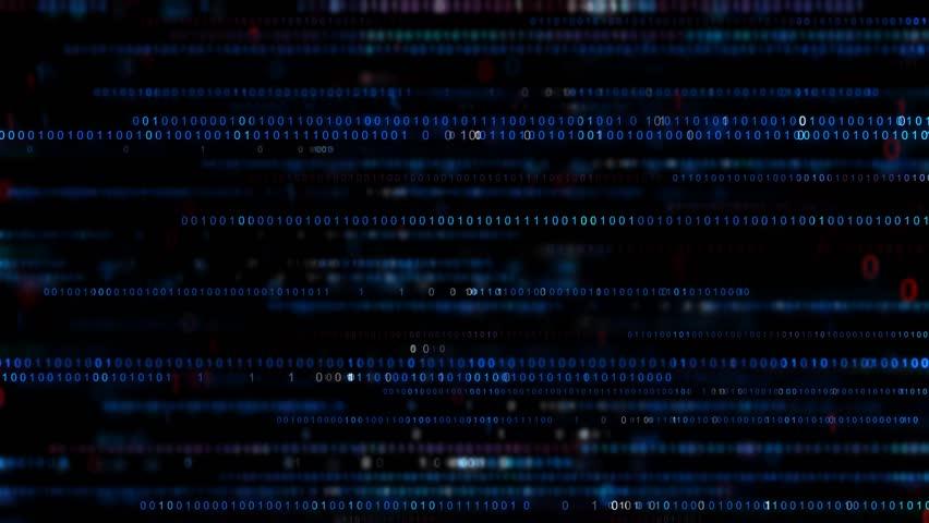 Digital binary code background. Big data digital code. Futuristic information technology concept. Computer generated seamless loop animation    Shutterstock HD Video #1017217600
