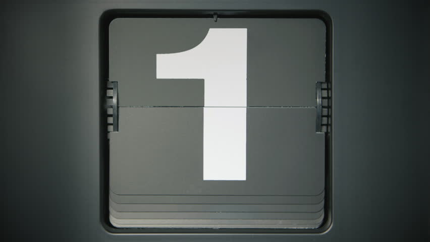 Retro flip clock showing 31 seconds/days of the month. One number every second.