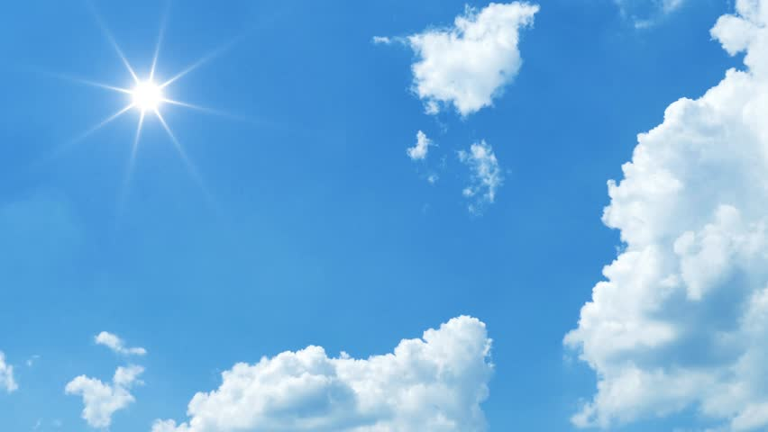 Blue sky sun and clouds moving time lapse | Shutterstock HD Video #1017389560