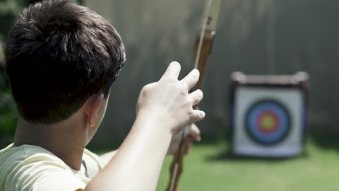Bow shot in slow motion
