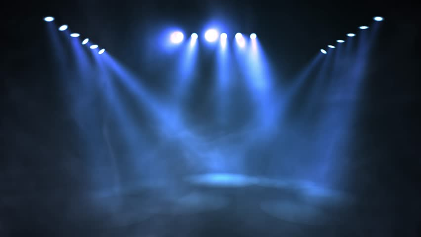 Stage lights shining at studio. Seamless looping animation. | Shutterstock HD Video #1017491620