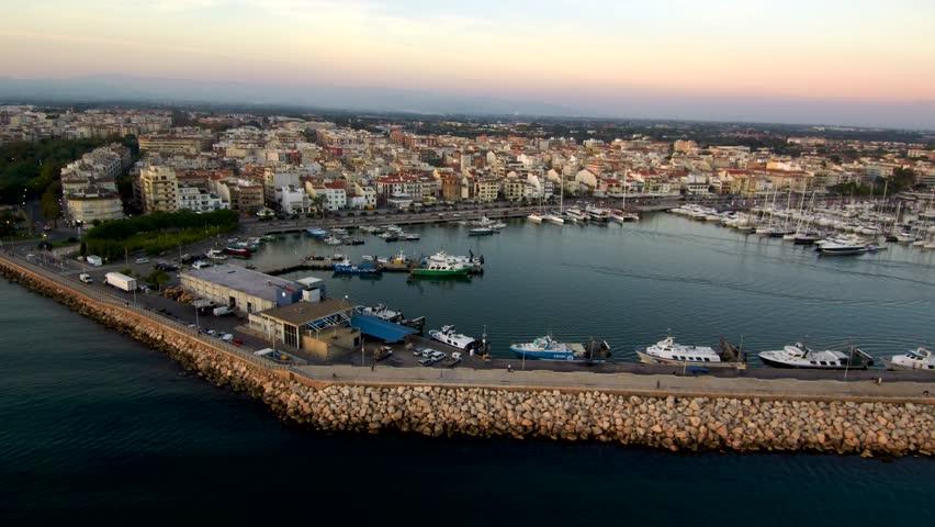 Aerial view in Cambrils, Tarragona, Spain. 4k Drone Video | Shutterstock HD Video #1017775510