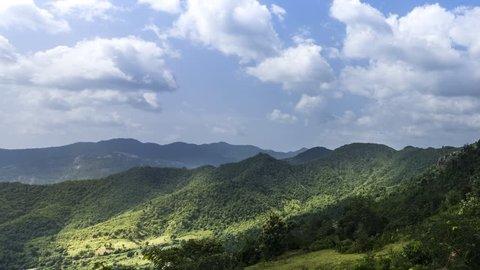 Time lapse view of beautiful Araku Valley, on the way to Araku village, Andhra Pradesh, India.