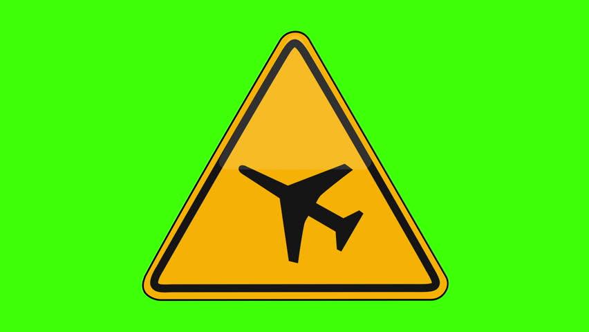 Symbol Airport Runway Yellow Sign Green Screen   Shutterstock HD Video #1018173670