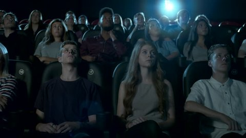 Cinema audience watching a movie