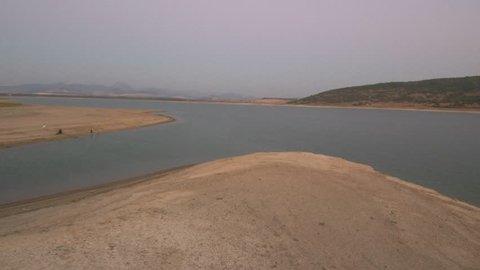 Aerial view in Bornos, Cadiz. Andalusia. Spain. 4k Drone Video