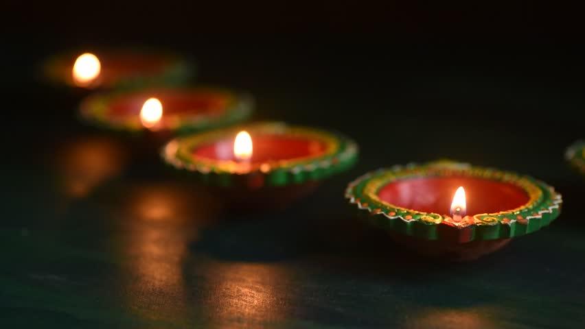 Happy Diwali - Diya Lamps Stock Footage Video (100% Royalty-free)  1018488430 | Shutterstock