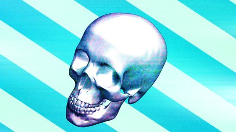 Pop grunge horror skull loop  Animated background with last frame removed for looping HD 30FPS weird flashes grunge horror