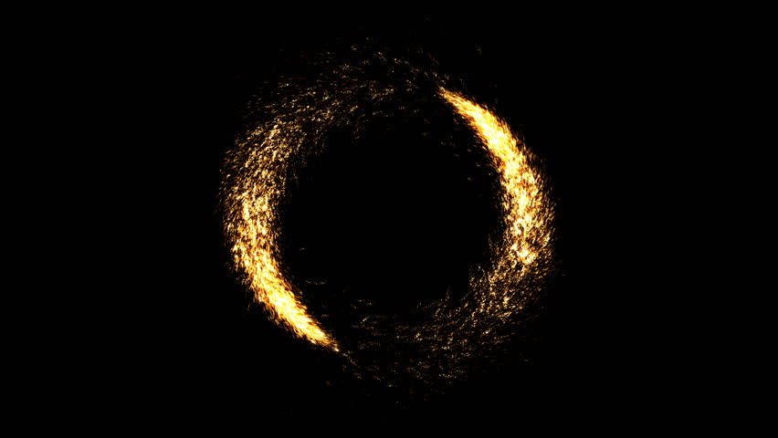 Two comets going around with appearance and disappearance. Asbtract vortex with golden glitter particles. Celebration fireworks for winner frame or congratulation screen. | Shutterstock HD Video #1018582180