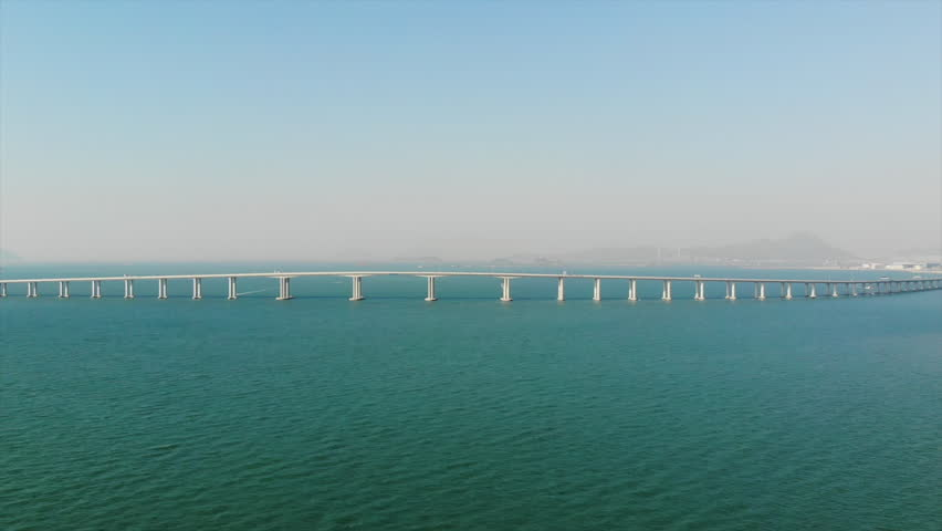 Hong Kong–Zhuhai–Macau Bridge | Shutterstock HD Video #1018731760
