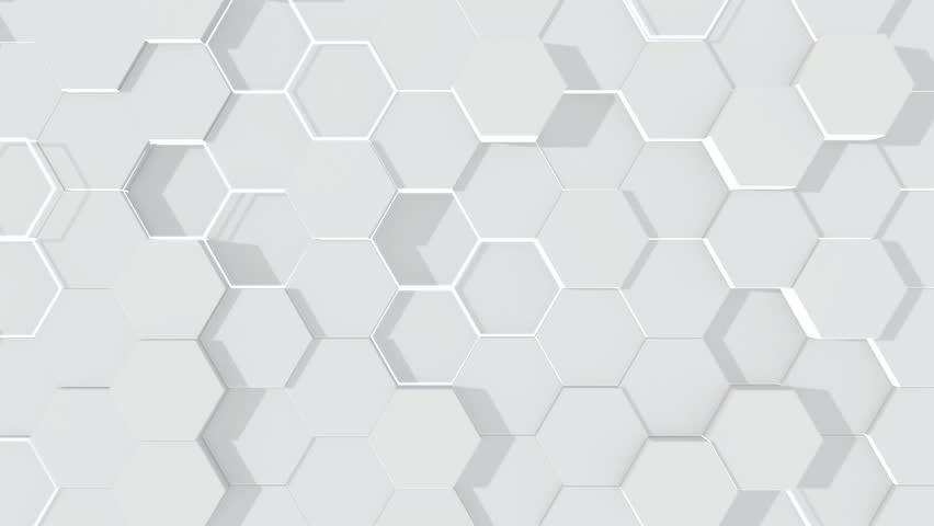 Abstract hexagonal geometric surface. | Shutterstock HD Video #1018742230