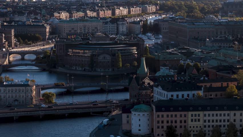 Aerial Shot of Stockholm, Gamla Stan, Sweden | Shutterstock HD Video #1018770610