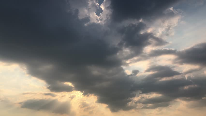 Evening clouds fast moving away, rolling dark sunset clouds, black gray white blue glow sunset sky cloud black gray cloudscape time lapse background dark black white sunset sky cloud timelapse,full hd