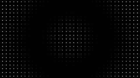 Abstract motion background loop digital dot modern black and white