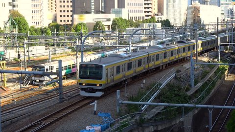 Real Time - Commuter Train in Tokyo, Japan