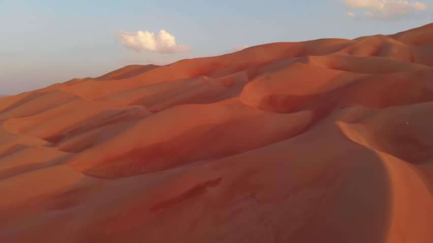 Aerial view of Liwa desert, part of Empty Quarter desert | Shutterstock HD Video #1019307100