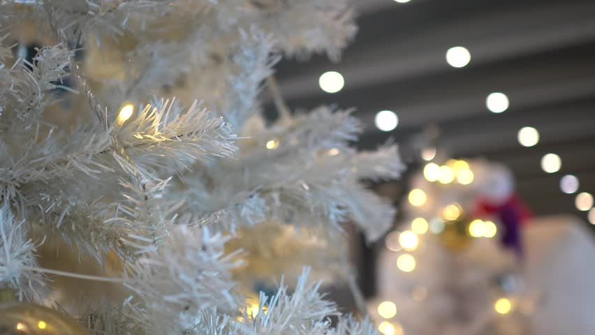 Christmas tree with decorations. | Shutterstock HD Video #1019579140