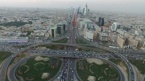 Riyadh Aerial view King Fahad street