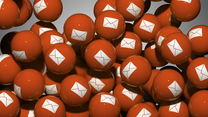 Falling Screen Balls Transition Animation with Mail Symbol | Shutterstock HD Video #1019890300