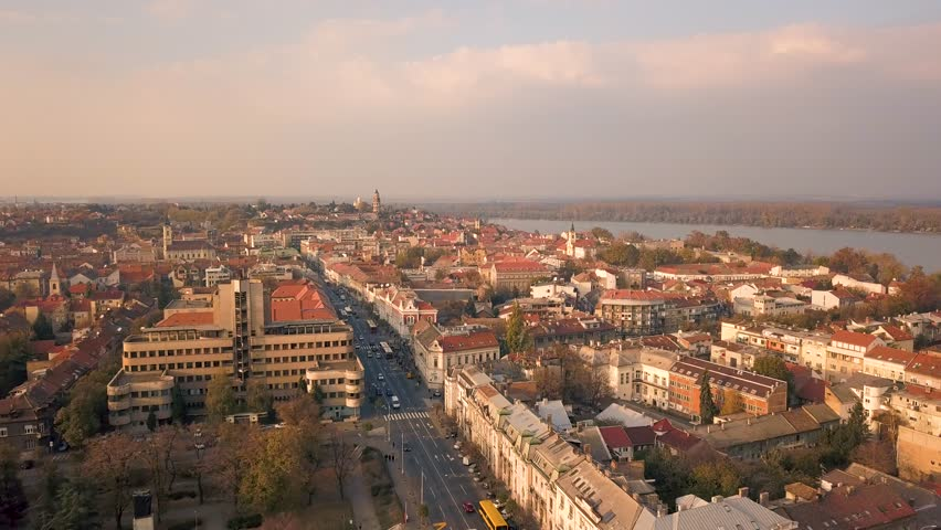 Aerial view of Zemun. It is the district of Belgrade | Shutterstock HD Video #1019897350
