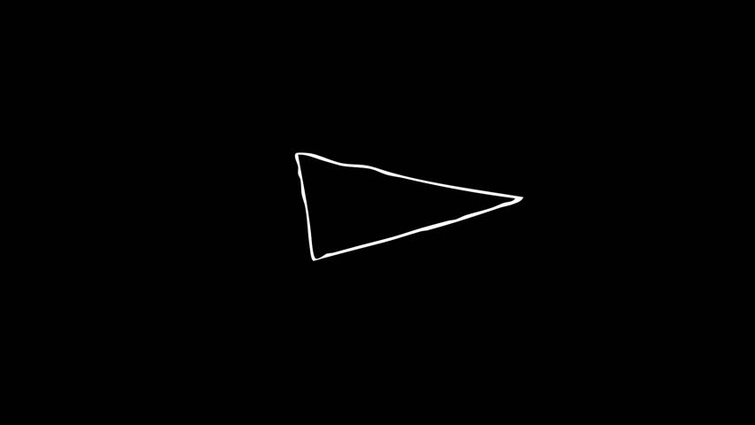 Awesome triangle element  Hand drawn 24 fps,… - Royalty Free