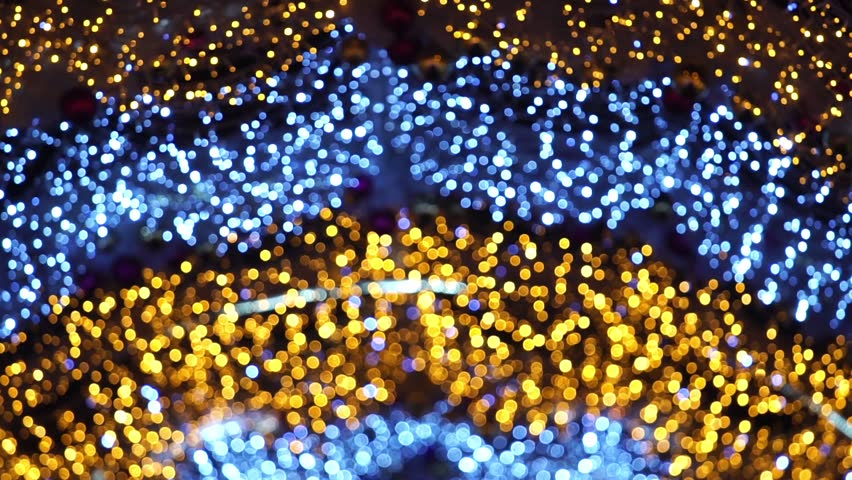 Abstract christmas background with colorful bokeh light effects | Shutterstock HD Video #1019989780
