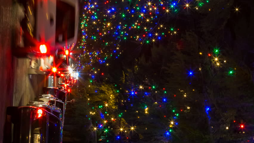 Timelapse Of Christmas Tree Lane Illumination In Altadena California