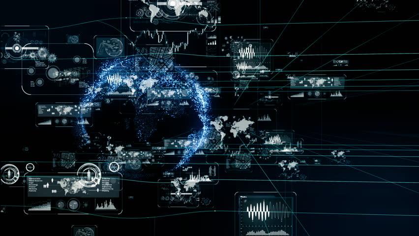 Futuristic interface concept. | Shutterstock HD Video #1020073330