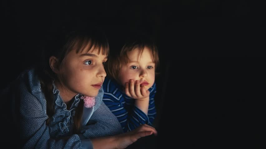 Two Girls are Looking  a Laptop | Shutterstock HD Video #10200980