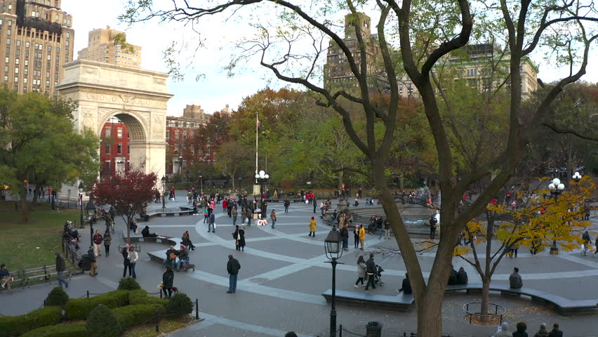 Washington square park New york city aerial view | Shutterstock HD Video #1020102670