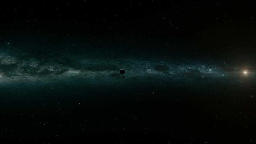 A CGI scene showing a satellite. | Shutterstock HD Video #1020119560