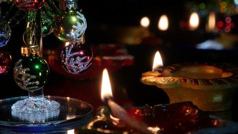 Deepak burn in the dark. Deepawali