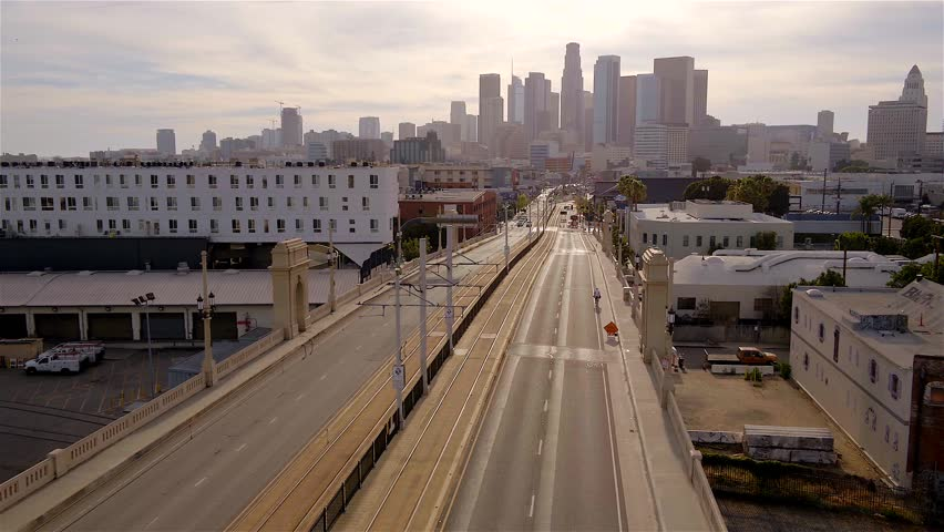 Aerial of Downtown Los Angeles  | Shutterstock HD Video #1020237340