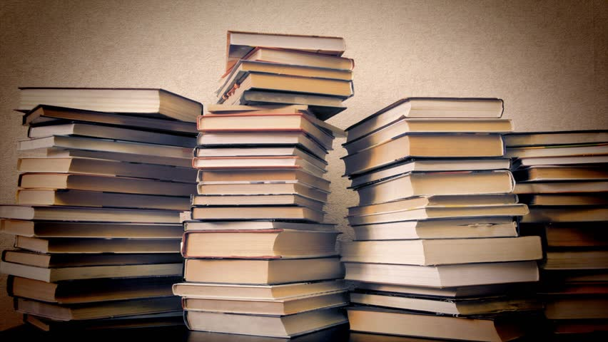 Timelapse, books disappear from bookshelves, vintage style | Shutterstock HD Video #1020328600
