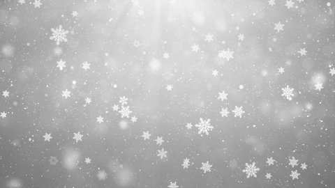 Elegant abstract silver snow snowfall snowflake Particles. Winter Christmas animated grey white glitter background. theme. Seamlessly Loop Black Alpha Green Screen Animation.