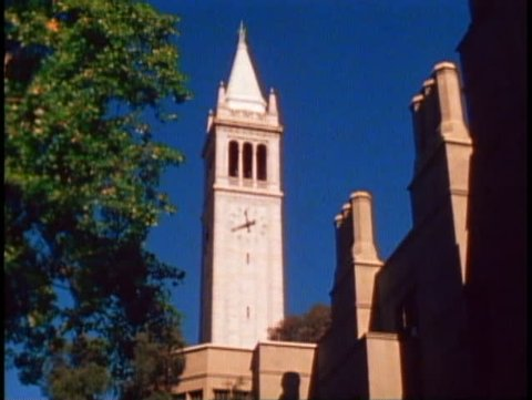 BERKELEY, CALIFORNIA, 1979, University of California, top of Campanile bell tower