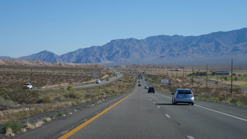Driving from Las Vegas To LA | Shutterstock HD Video #1020436660
