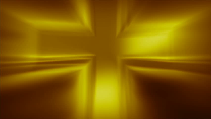 Metallic Cross Golden Abstract Loop in HD