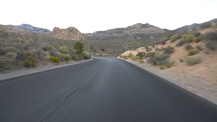 Hyperlapse Driving Winding Desert Highway Nevada | Shutterstock HD Video #1020465730